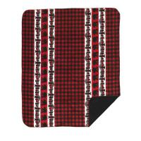 Cabin Accents Bear Plaid Border Throw DE620