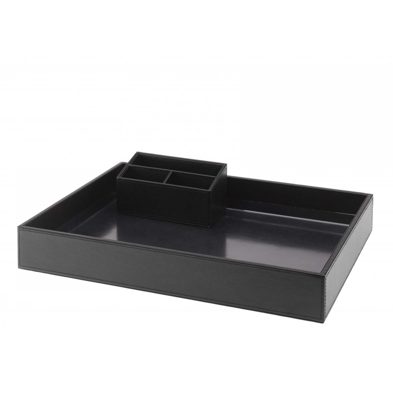 HENDON LEATHERETTE TRAY SET