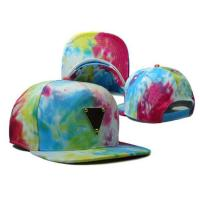 custom print floral snapback with meatal logo