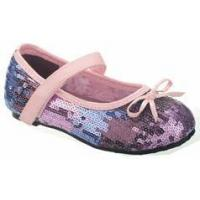 Buy cheap China Doll Sparkly Purple & lavender Sequined Girls MJ Shoes 6 8 Toddler product