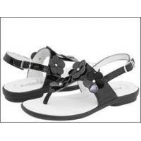 Buy cheap Aster Shoes Adorable Black Patent Leather Sandals w/Flowers 7 10 12 product