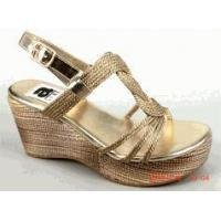 Buy cheap Amiana Gold Braided Top Tween Girls Wedge Sandals 1Yth 5 7 8 product
