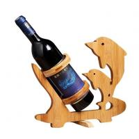 China Bamboo Wood Wine Rack For Home Decoration on sale