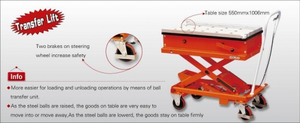 China VOLOX Products Ball table-type lift platform pedal car
