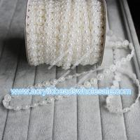 25m for 1 roll Ivory color Sunflower pearl bead ga--YZB020