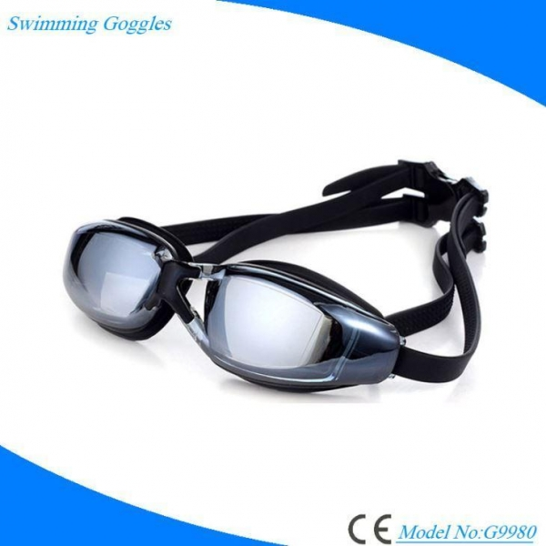 Quality Prescription Antifog Anti UV Swimming Goggles with Mirrored Lens for Adults for sale