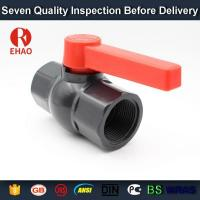 "China 1-1/2"" pvc ball valve schedule 80 threaded FPT x FPT PVC valve on sale"