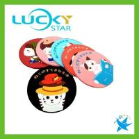 Buy cheap DRINKWARE Creative circular fashion cartoon coaster silicone insulation pad cup coaster placemat product