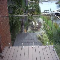 deck railing kits_with ss glass balustrades spigots_clear deck railing