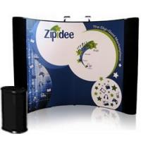 Buy cheap 10' Curved Photo Mural Graphic Pop Up Display with Fabric End Panels from wholesalers