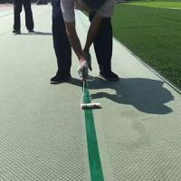 Buy cheap XPE shock absorbing pad for football artificial grass with single hole pattern from wholesalers