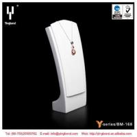 China White Black Resin Necklace Jewelry Display Bust Stand MDF Necklace Display on sale