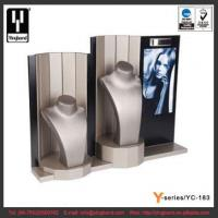 China Latest Display Stand Two Mannequin Necklace Display Bust Stand PU MDF Jewelry Display Set on sale
