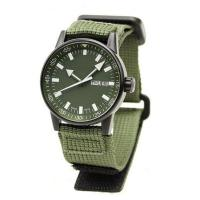Buy cheap Black PVD Coating Stainless Steel Canvas Band Military Style Watches for Men product