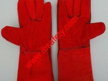 Quality Reflective Materials Goatskin Leather Working Gloves for Driver for sale