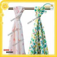 Buy cheap TEXTILES Print Muslin Swaddle Wrap Blanket from wholesalers