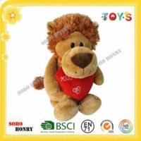Buy cheap TOYS Animal Plush Toy Plush Lion Toy Standing with Red Heart from wholesalers