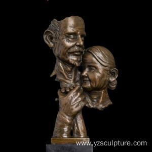 Quality Old Love Couple Bronze Bust for Sale for sale