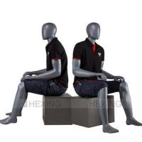 Buy cheap High End Fiberglass Cheap Male Maniquies Sitting product