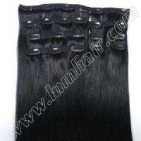 Clip In Wholesale #1 Clip on 20inch Clip in Human Hair Extensions