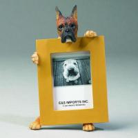 Dog Picture Frame - Brindle Boxer Cropped Ears, Small