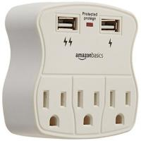 Buy cheap AmazonBasics 3-Outlet Surge Protector with 2 USB Ports from wholesalers
