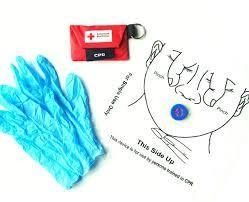 Quality Disposable First Aid Mouth to Mouth CPR Face Mask Shields for Training for sale