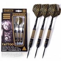 Buy cheap CUESOUL TATTOO Series 23g Black Coated Brass Steel Tip Darts,with Unique Pattern Engraved product