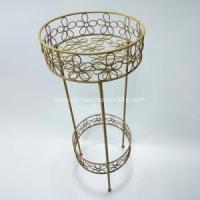 Buy cheap 2-tier Metal flower stand for garden decoration product