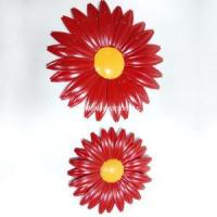 Buy cheap Metal Red Sunflower Wall Decor product