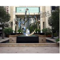 Buy cheap Huge Abstract and Glossy Curved Steel Metal Hotel Sculptures from wholesalers