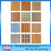 china Acoustic Soundproofing Wooden Board Panel For Ceiling/Wall Decorative