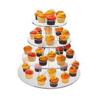 Buy cheap 8 Inch Tier Clear Acrylic Scalloped Edge Cake Display Cupcake Centerpiece Stand Riser product
