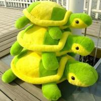 China Plush turtle toy with yellow and green color on sale