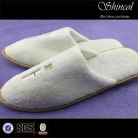 Buy cheap white velour slippers for hotel use from wholesalers
