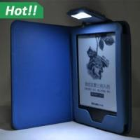 Buy cheap Led Light Flip leather cover case for amazon 2014 new kindle touch from wholesalers