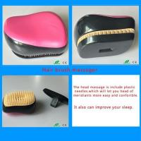 Woman New Arrival manufacturer Plastic Travel Nylon Hair Brush Comb Massager with Cover