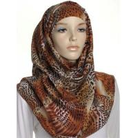 Beige Animal Print Large Maxi Hijab