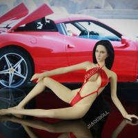 China 1/6 Action Figure Clothes Sexy Red Bikini for 12 inch action Figure Female Body on sale