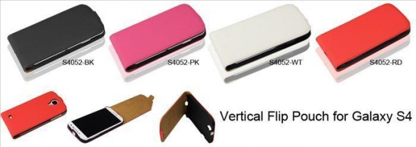 Quality Vertical Flip Pouch for Galaxy S4 for sale