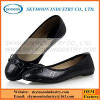 Buy cheap Classic Black Women Flat Shoes With Snakeskin Pattern product