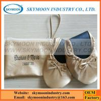 Buy cheap Morden Gold Color Women Fold Up Rollable Shoes from wholesalers
