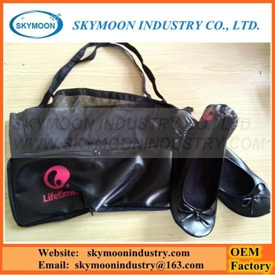 Quality Logo Printing Foldable Shoes With Portable Carry Bag for sale