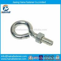 Stainless steel hook bolt long stub eye bolt with nut