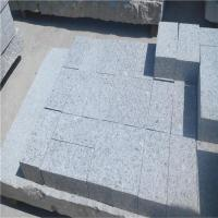 Buy cheap Wholesale Grey Granite Pave Stone for Car Stop Granite Paver Bricks Porphyry Stone product
