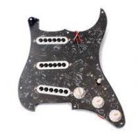 Buy cheap Black 3-ply Electric Guitar Prewired Pickguard SSS Scratch Plate product