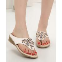 Buy cheap Fashion sandy beach shoes seaside flowers slippers for women product