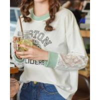 Buy cheap Lace Korean style spring long sleeve T-shirt for women product