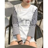 Buy cheap Short bottoming shirt letters T-shirt for women product