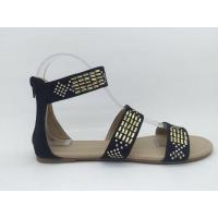 Buy cheap sandals Suede fabric with rhinestone TPR outsole new flat sandals product